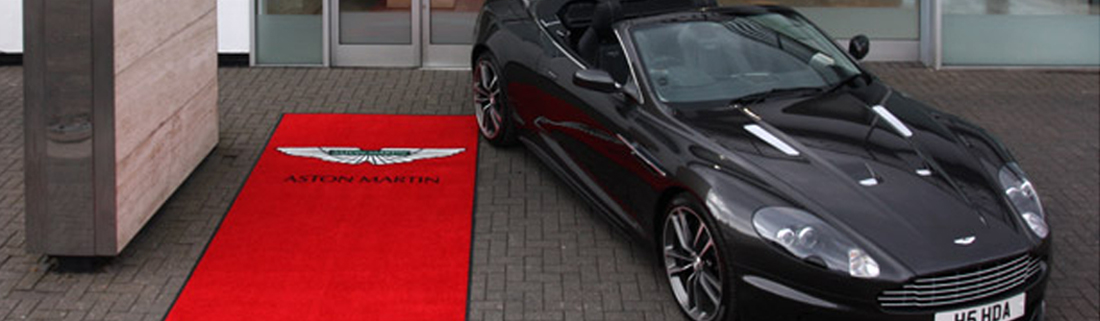 Aston Martin Car & Mat, Sheffield Logo Personlised Mats